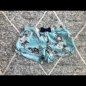 Aerie Blue Floral Pajama Shorts